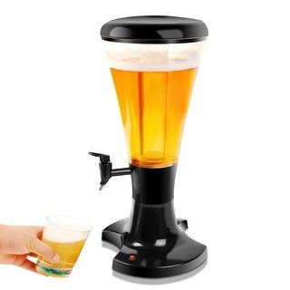 Costway 3L Cold Draft Beer Tower Dispenser Plastic with LED Lights