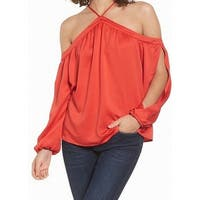 Love Fire NEW Red Womens Size Large L Cold-Shoulder Halter Blouse