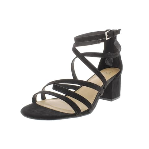 Material Girl Womens Inez 1 Dress Sandals Microsuede Strappy