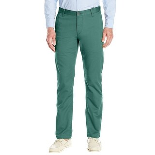 Dockers Alpha Slim Tapered Flat Front Chinos Pants Teal Green 30 x 32