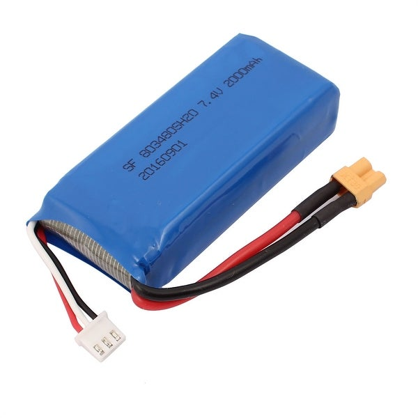 DC 7.4V 2000mAh Recycle Charging Lithium Battery Pack for RC Aircraft Blue