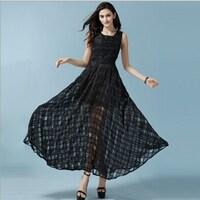 462840c1f5f8 Women Long Dress Sleeveless Tank Long Party Girl Bohemian Fall Maxi Dress