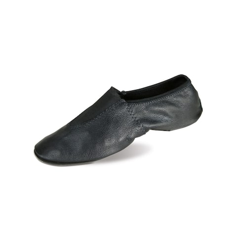 Danshuz Girls Black Soft Glove Leather Upper Gymnastic Shoes