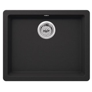 "Miseno MGR2217 Carolina 22"" Single Basin Drop In or Undermount Granite Composite Kitchen Sink - Basket Strainer Included"