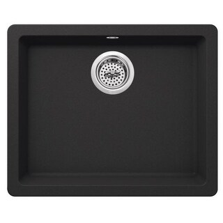 """Miseno MGR2217 Carolina 22"""" Single Basin Drop In or Undermount Granite Composite Kitchen Sink - Basket Strainer Included (4 options available)"""