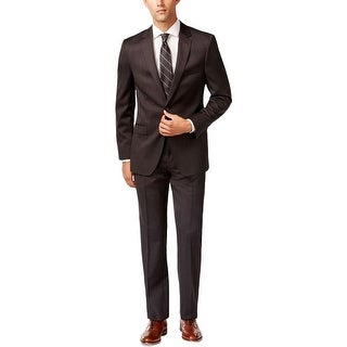 DKNY Mens Two-Button Suit Wool 2PC - 40s