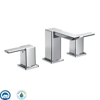 Moen TS6720 Double Handle Widespread Bathroom Faucet from the 90 Degree Collection - Pop-Up Drain Included