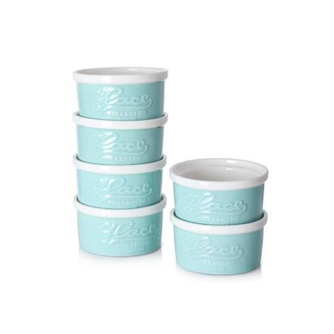 DOWAN 4 oz. Ceramic Round Embossed Ramekin