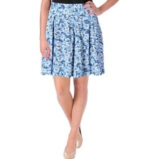 Denim & Supply Ralph Lauren Womens Casual Shorts Pleated Floral Print