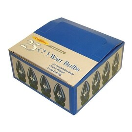 Celebrations UYRU4411 C7 Replacement Bulbs, 7 W, Transparent, Blue
