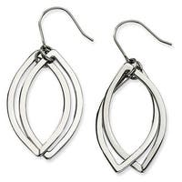 Chisel Stainless Steel Polished Ovals Dangle Earrings