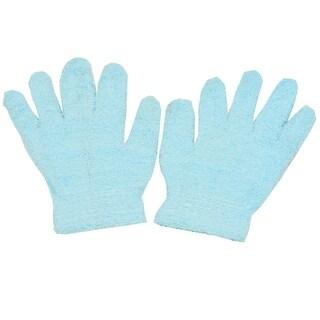 Gold Medal Girls Blue Solid Color Soft Texture Winter Gloves