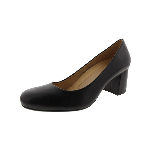 cfd621fd8f Shop Naturalizer Womens Whitney Pumps Leather Block Heel - Free ...