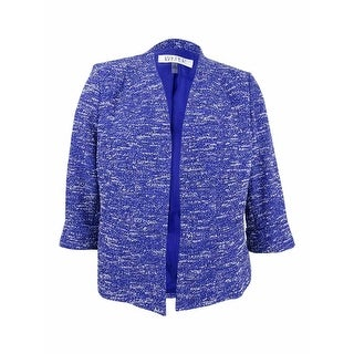 Kasper Women's Tweed Blazer - iris multi