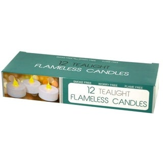 Pack of 4 White LED Flameless Tealight Candles Set