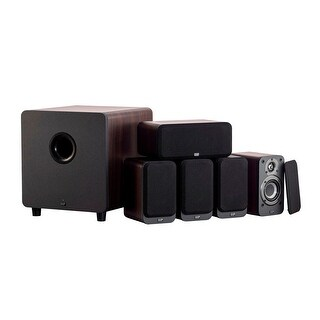 Link to Monoprice Premium 5.1-Channel Home Theater System, Espresso W/ Powered Subwoofer Similar Items in Home Theater