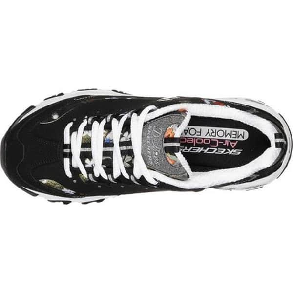 oasis ganador Actuación  Skechers Women's D'Lites Floral Days Sneaker Black/White - Overstock -  25588462
