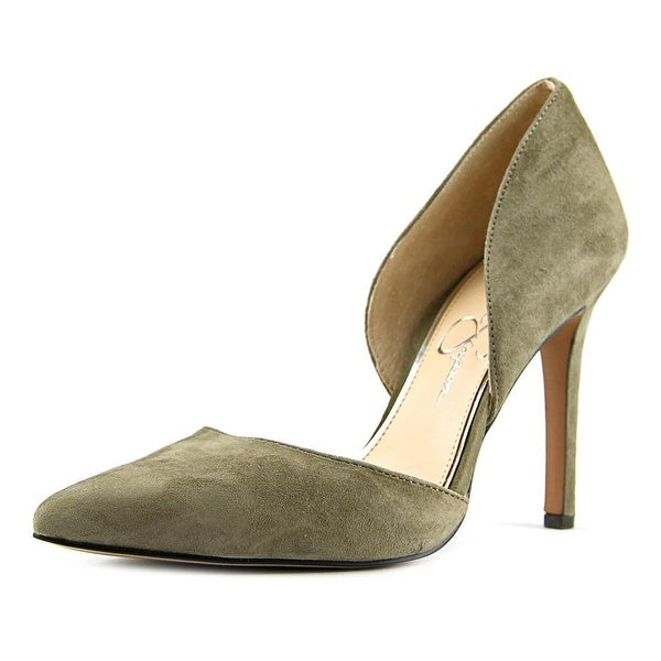 Jessica Simpson Cenya Women Pointed Toe Suede Green Heels