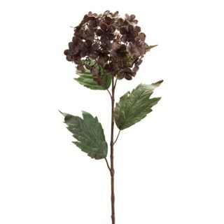 Club Pack of 12 Decorative Gray and Brown Artificial Hydrangea Stem Craft Pick 26""