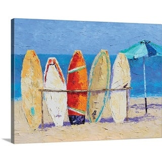Leslie Saeta Premium Thick-Wrap Canvas entitled Resting on the Beach