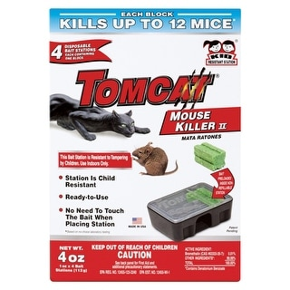 Tomcat 0371610 Disposable Mouse Bait Station, 4 Pack