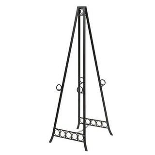Style Craft FP6582 Metal Adjustable Floor Double Easel, Black