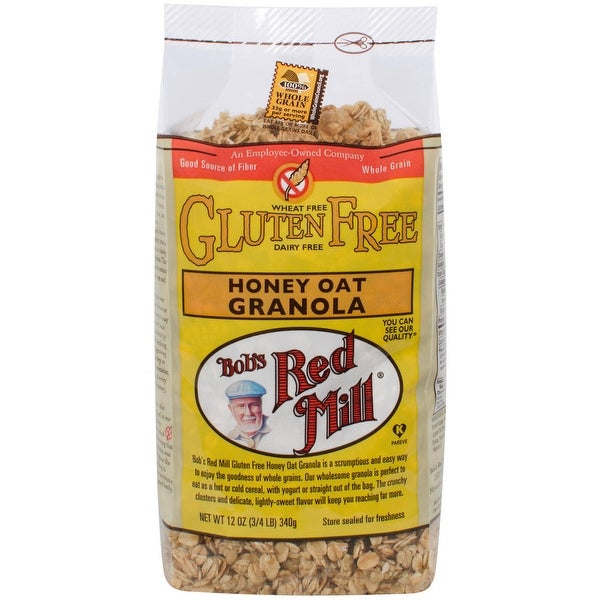 Bob's Red Mill Gluten Free Honey Oat Granola - 12 oz - Case of 4