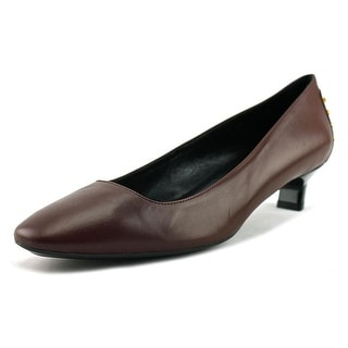 Tod's Gomma T35 UW Decollete Gom. Met. Asia Women Leather Brown Heels