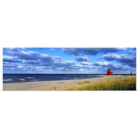 """Big Red Lighthouse Lake Michigan Holland MI"" Poster Print"