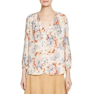 Joie Womens Lennix Blouse Silk Printed