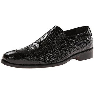 Stacy Adams Mens Parisi Leather Croc Print Loafers