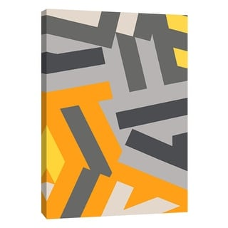 """PTM Images 9-105716  PTM Canvas Collection 10"""" x 8"""" - """"Monochrome Patterns 1 in Yellow"""" Giclee Abstract Art Print on Canvas"""