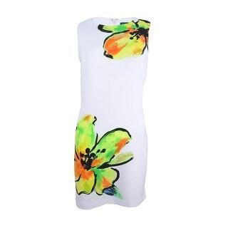 Lauren by Ralph Lauren Women's Floral Sheath Dress - White/Yellow