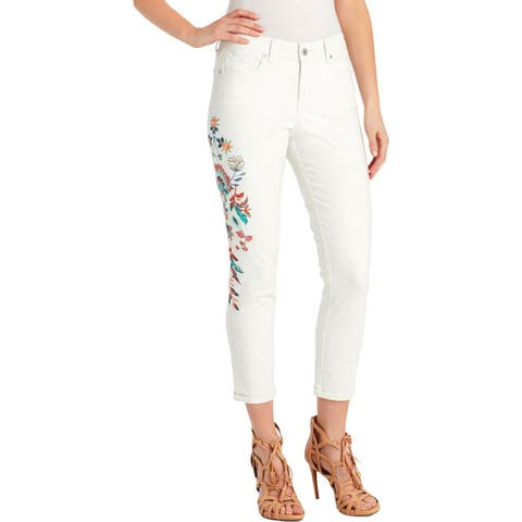 Jessica Simpson Womens Juniors Forever Skinny Jeans Roll Cuff