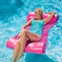 "46"" Shocking Pink Aquaria Aqua Hammock Swimming Pool Water Float"