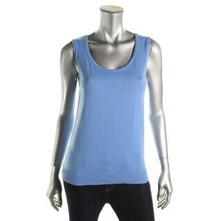 Jones New York Womens Cotton Knit Casual Vest