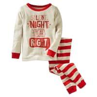 OshKosh B'gosh Little Boys' 2-Piece Silent Night Snug Fit Cotton PJs, 2-Toddler