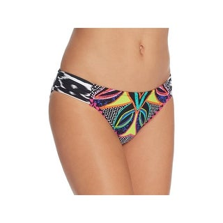 Trina Turk Womens Printed Shirred Swim Bottom Separates