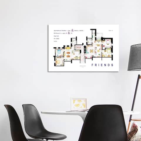 "iCanvas ""The Apartments From Friends"" by TV Floorplans & More Canvas Print"
