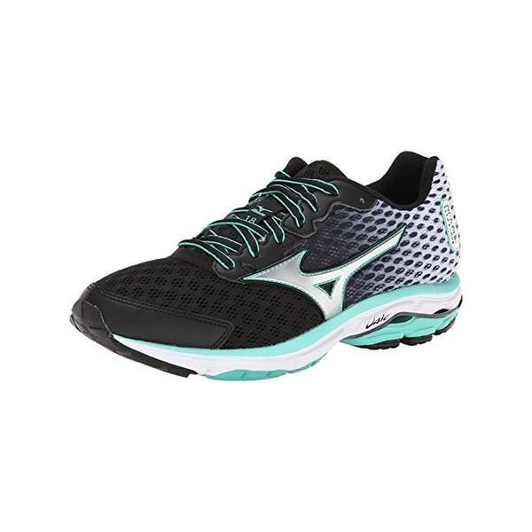 Mizuno Womens Wave Rider 18 Running Shoes Smooth Ride Ombre - 6 wide (c,d,w)