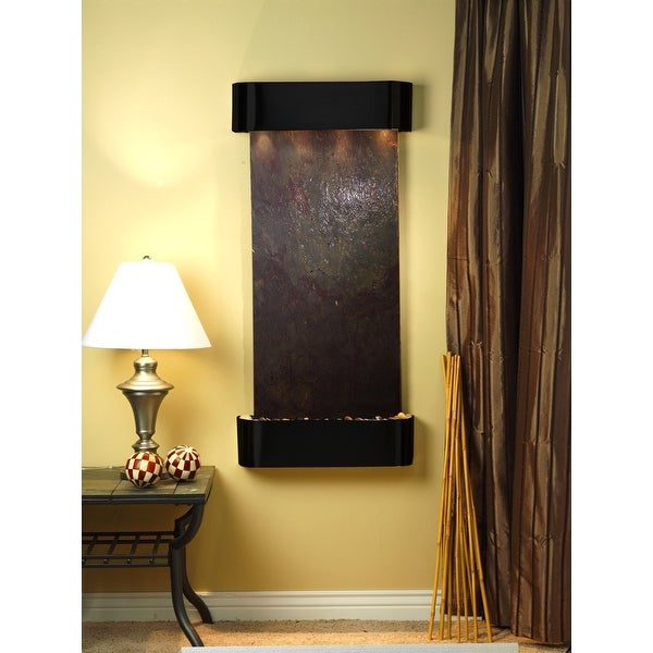 Adagio Cascade Springs Fountain w/ Rajah Featherstone in Blackened Copper Finish
