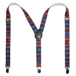 CTM® Women's Elastic Aztec Pattern Suspenders - aztec print - One Size