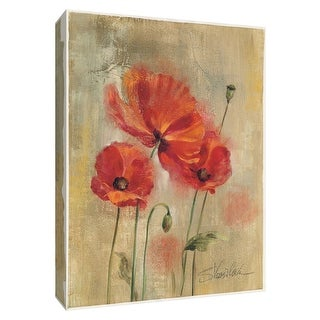 """PTM Images 9-154220  PTM Canvas Collection 10"""" x 8"""" - """"Poetic Flowers II"""" Giclee Flowers Art Print on Canvas"""