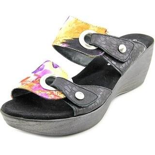 Helle Comfort Mod. Gemini Women Open Toe Canvas Wedge Sandal