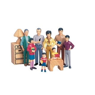 Marvel Education Play Figures, Asian Family, Vinyl, Set of 8