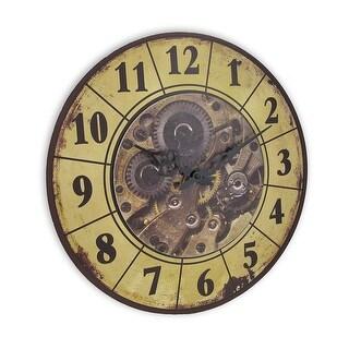 Steampunk Gear Art Wall Clock 15 In.