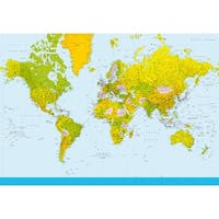 Brewster DM152 Map Of The World Wall Mural - N/A