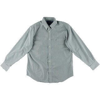 Nautica Mens Tencel Blend Pinstripe Button-Down Shirt