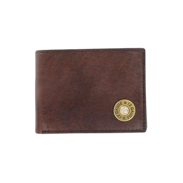 Nocona Western Wallet Mens Pass Case Shotgun Shell Bifold - One size