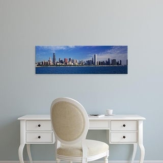 Easy Art Prints Panoramic Images's 'Skyline From Lake Michigan, Chicago, Illinois, USA' Premium Canvas Art